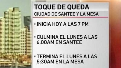 Toque De Queda En Santee Y La Mesa Telemundo San Diego 20