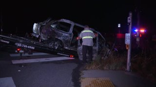 One person was killed in a fiery car crash on Thursday, June 11, 2020.