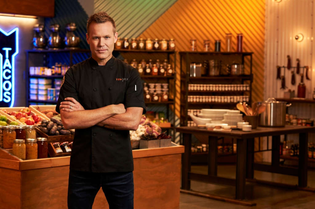 "Chef Brian Malarkey on the TV show ""Top Chef"""