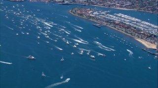 Trump Boat Parade at San Diego bay