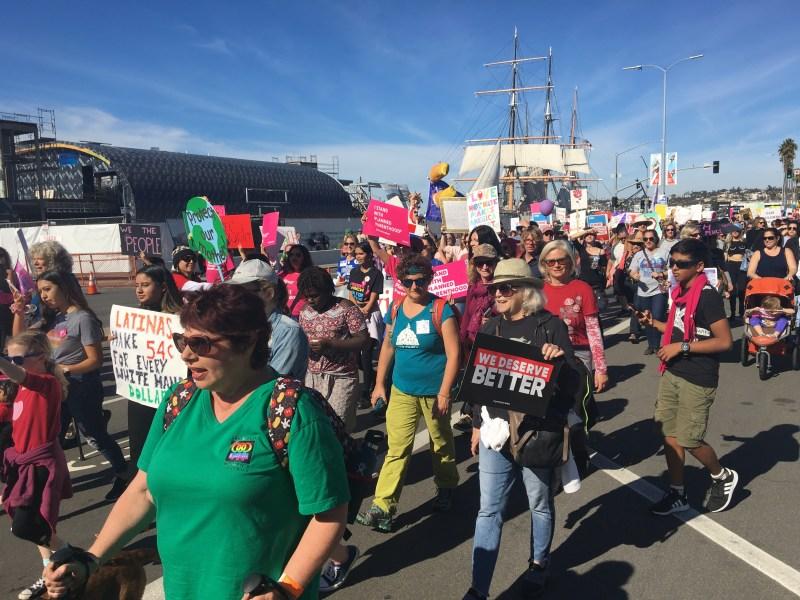 Celebran Marcha de Mujeres 2020 en San Diego