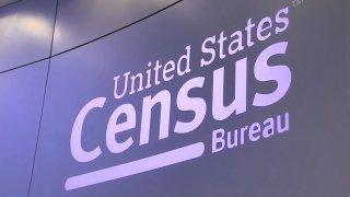 A purple screen that reads United States Census Bureau