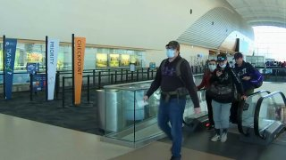 Security checkpoint at Mineta San Jose International Airport.