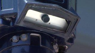 A Smart Streetlight in San Diego, California.