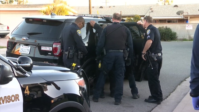 Chula Vista Police with Suspect