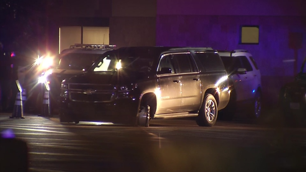 A pursuit suspect involved in a standoff with police outside of Rady Children's Hospital.