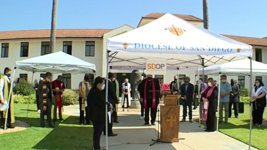More than 20 faith leaders across San Diego County gathered on Thursday, June 11, 2020 to discuss racial inequity and police reform.