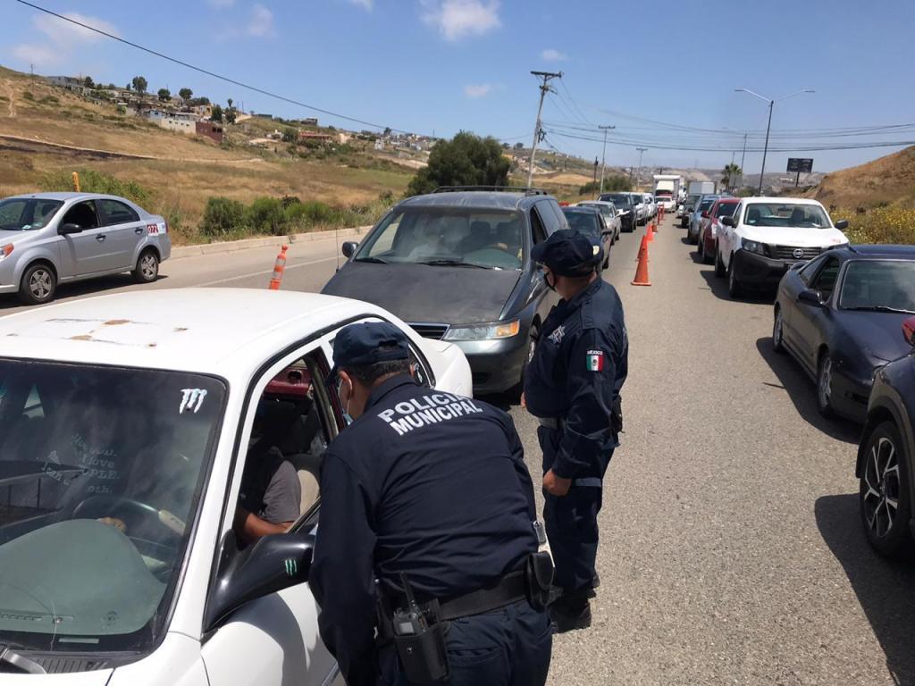filtro de salud para entrar a Rosarito Baja California