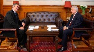 Canciller Ebrard y presidente López Obrador