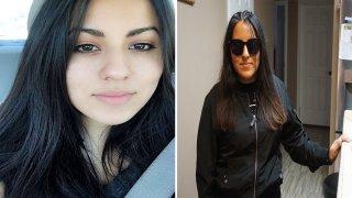 mujer antes y después de sacarse los ojos