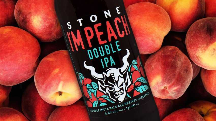 """Stone Brewing's Limited Edition """"I'm Peach"""" IPA."""