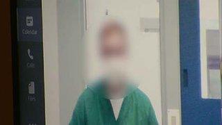 Former SDSO deputy Jaylen Fleer appears in court. Photo is blurred per court order.