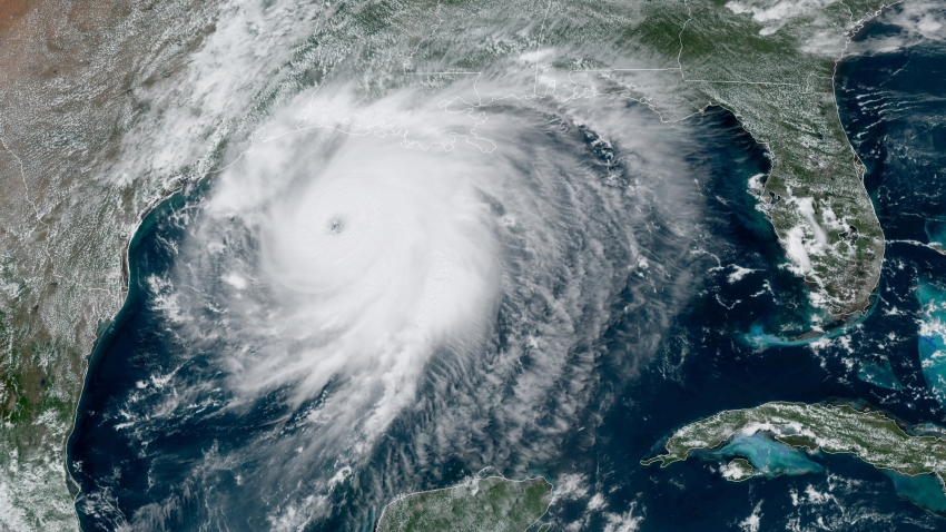 Hurricane Laura became a Category 4 storm early Wednesday afternoon, on Aug. 26, 2020.