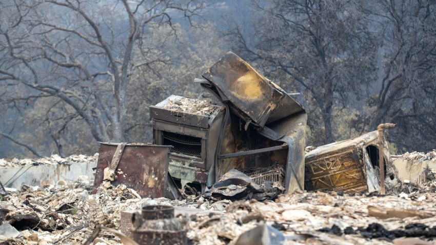 What remains of a home destroyed by the LNU Lightning Complex wildfire.