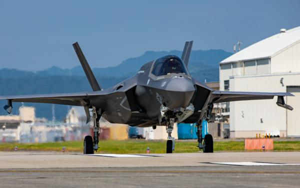 U.S. Marine Corps F-35B Lightning II aircraft assigned to Marine Fighter Attack Squadron (VMFA) 121 conduct flight operations aboard Marine Corps Air Station Iwakuni, Japan, Aug 18, 2020.