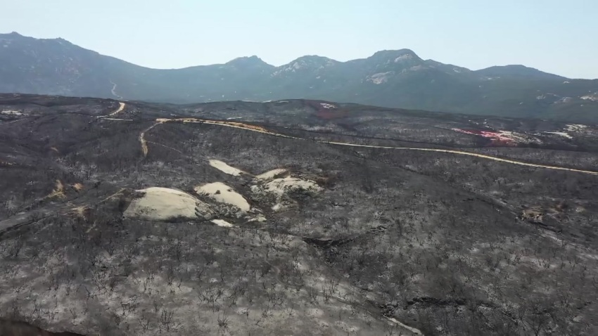 Land scorched by the Valley Fire that sparked south of Alpine