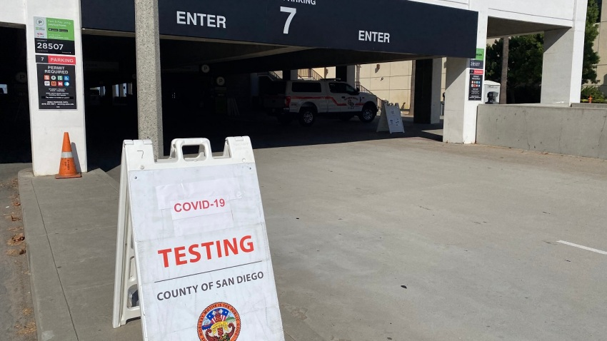 San Diego County opened a coronavirus testing site at the San Diego State University's Alumni Center amid its outbreak.