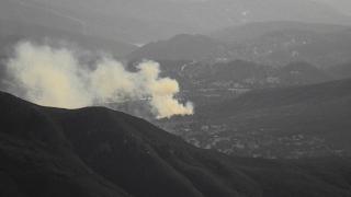 Fire near Alpine seen from an SDG&E Wildfire Cam.