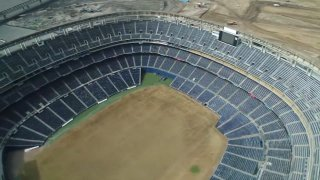 SDCCU stadium in process of being demolished