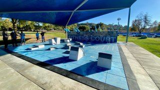 A look at the new Fitness Center at Mountain View Park in Escondido.