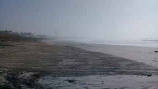 Playas de Rosarito con neblina