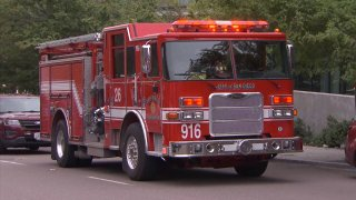 A San Diego Fire-Rescue firetruck.