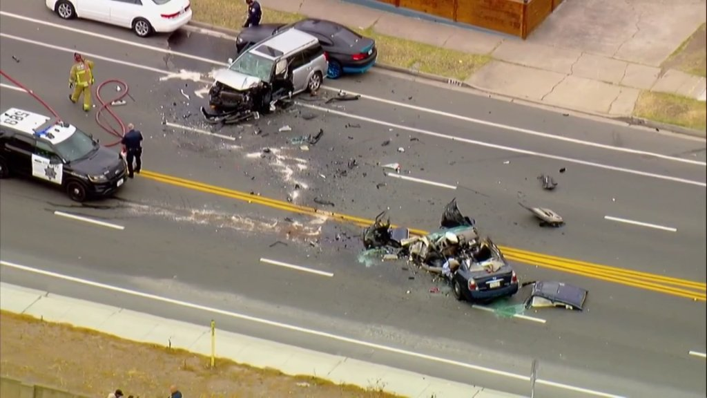 Two cars were involved in a head-on crash on Jamacha Boulevard in Spring Valley