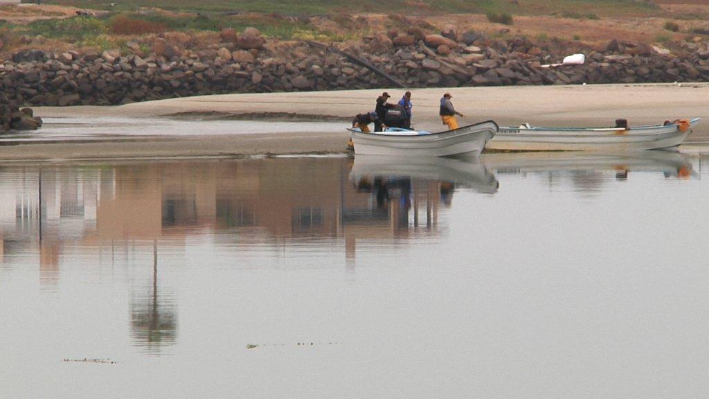 Lancha en Popotla, un puerto pesquero del municipio de Playas de Rosarito Baja California