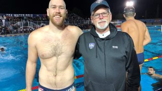 USA Water Polo Player Alex Bowen with dad