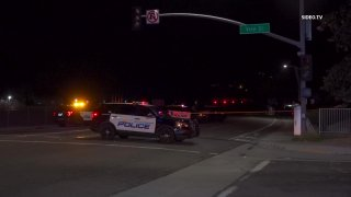 Oceanside police respond to a hit-and-run on Friday, July 16, 2021 in which a bicyclist was killed.