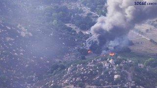 Lyons Valley brush fire