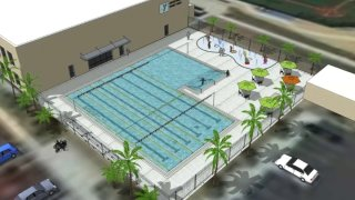 An artist's rendering of what the Jackie Robinson YMCA will look like upon completion.