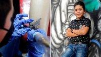 Brandon, el niño que sorprende por su talento como tatuador